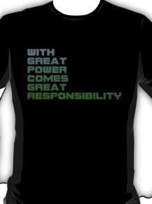 Spiderman - With Great Power Comes Great Responsibility T-Shirt