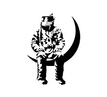 Astronaut Black & White by Foxboxes