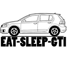 Eat Sleep GTI VW Golf Photographic Print