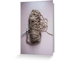 Stick to knitting Greeting Card