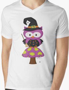 Witchy Owl  Mens V-Neck T-Shirt
