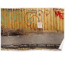 Brunswick Abandoned - Chair. Melbourne Poster