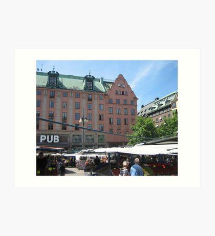 Stockholm Square Art Print