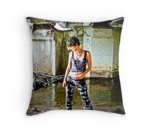 Rebel  Trash Throw Pillow