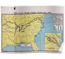 Civil War Maps 1759 The comprehensive series historical-geographical maps of the United States Poster
