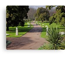 Queen Victoria Gardens Melbourne Canvas Print