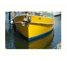 Yellow mooring- Launceston Art Print