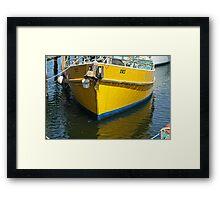 Yellow mooring- Launceston Framed Print