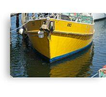 Yellow mooring- Launceston Canvas Print