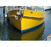 Yellow mooring- Launceston Photographic Print