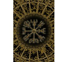 Vegvisir - Icelandic Magical Stave - Protection & Navigation  Photographic Print
