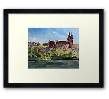 Rhine River Basel Switzerland Framed Print