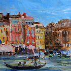 Venezia Canal Grande near Rio Marin by TerrillWelch