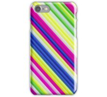 Color craft straws as a background iPhone Case/Skin