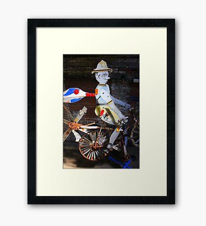 Bicycle Man Framed Print