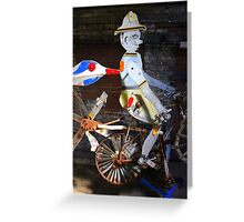Bicycle Man Greeting Card