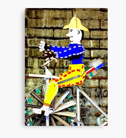 Tricycle Man Canvas Print