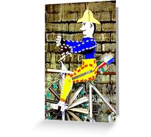 Tricycle Man Greeting Card