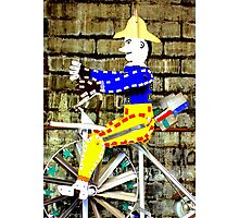 Tricycle Man Photographic Print