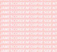 JAMES CORDEN FOR PRESIDENT Sticker