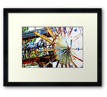 Covered Wagon Whirligig Framed Print