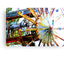 Covered Wagon Whirligig Canvas Print
