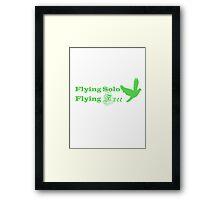 Flying Solo Flying Free Framed Print
