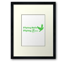 Flying Solo Flying Free Framed Print
