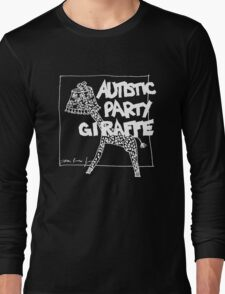 Autistic Party Giraffe - White Long Sleeve T-Shirt