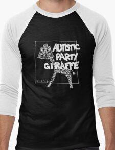 Autistic Party Giraffe - White Men's Baseball ¾ T-Shirt