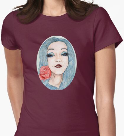 Illustrated Nina Womens Fitted T-Shirt