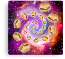 Spiral Galaxy of Burgers Canvas Print