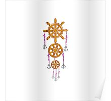 Anchor and Wheel Dream Catcher Poster