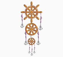 Anchor and Wheel Dream Catcher One Piece - Long Sleeve