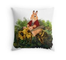 I am Ring-winner and Luckwearer; and I am Bee-rider Throw Pillow