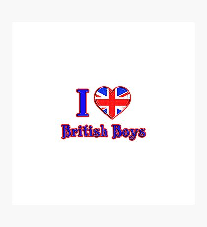 I <3 British Boys Photographic Print