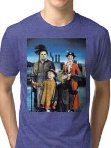 Michael Myers in Mary Poppins Tri-blend T-Shirt