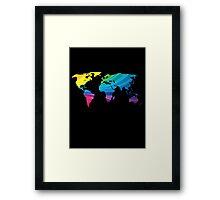 world map, rainbow colors Framed Print