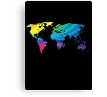 world map, rainbow colors Canvas Print