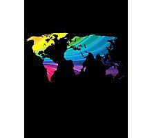 world map, rainbow colors Photographic Print