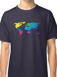 world map, rainbow colors Classic T-Shirt