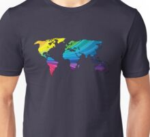 world map, rainbow colors Unisex T-Shirt