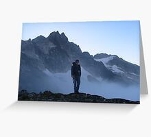 Misty Morning at Torment Peak Greeting Card