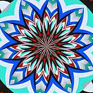 Iznik Style Red Turkish Tulips Kaleidoscope by taiche