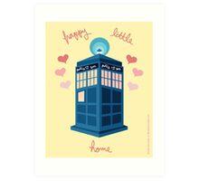 Happy Little Home Art Print