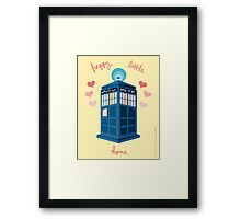 Happy Little Home Framed Print