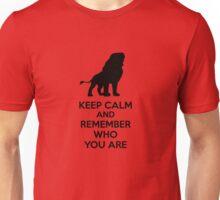 Keep Calm and Remember Who You Are Unisex T-Shirt