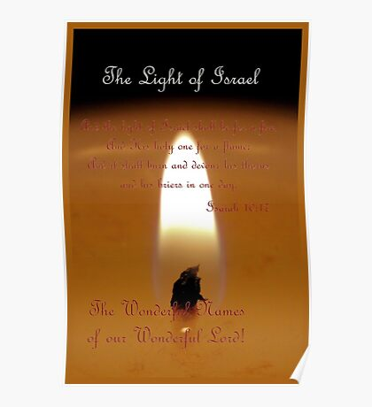 The Light of Israel Poster