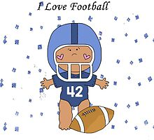 I Love Football Baby by purplesensation