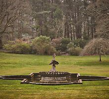 Early Spring at a Formal Castle Garden in Scotland by Kate Purdy